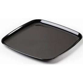 Plateau carré en plastique dur Noir 35x35 cm (25 Utés)