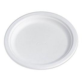 Papieren bord Houtpulp Chinet wit 24 cm (100 stuks)