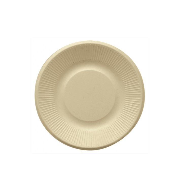 Assiette en Canne à Sucre Naturel Ø210mm (50 Unités)