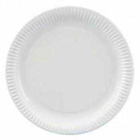 Assiette en Carton Ronde Blanc 180 mm (400 Unités)