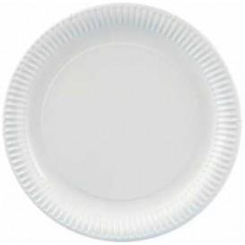 Assiette en Carton Ronde Blanc 230 mm 600g/m2 (500 Unités)
