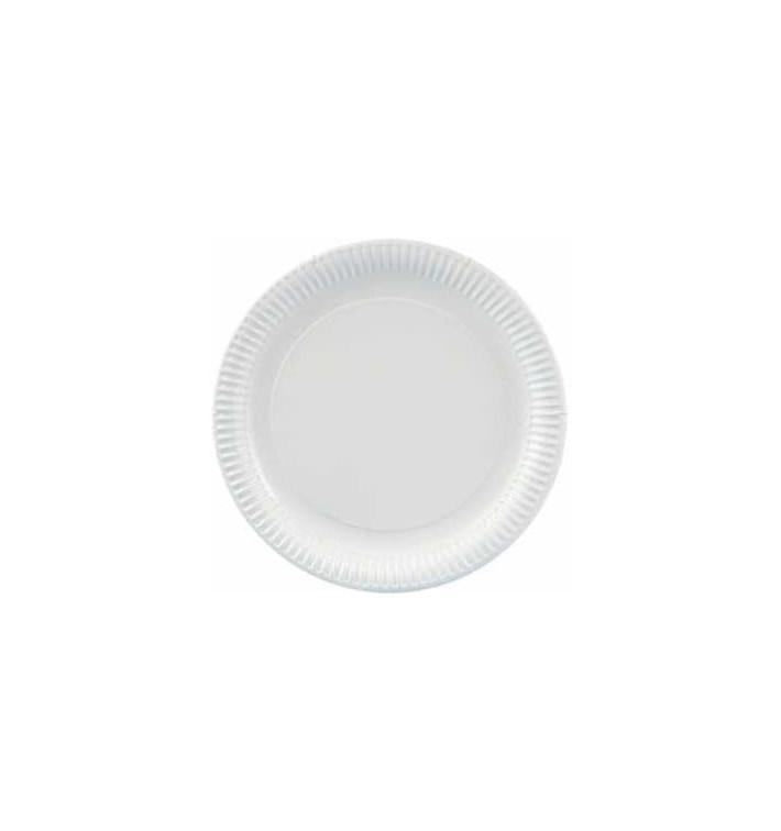 Assiette en Carton Ronde Blanc 380 mm (100 Unités)