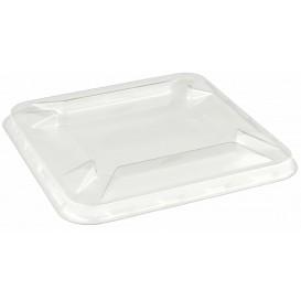 Plastic Deksel voor mini-Kom PET 9x9cm (50 stuks)