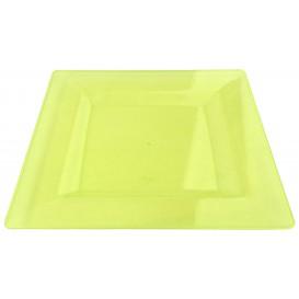 Plastic bord Vierkant extra sterk groen 20x20cm (4 stuks)