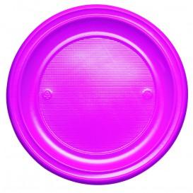 Assiette Plastique PS Plate Fuchsia Ø220mm (780 Unités)
