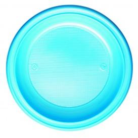 Assiette Plastique PS Creuse Bleu Clair Ø220mm (600 Unités)