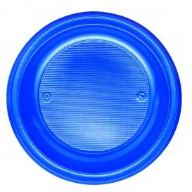 Plastic bord PS Diep donkerblauw Ø22 cm (600 stuks)
