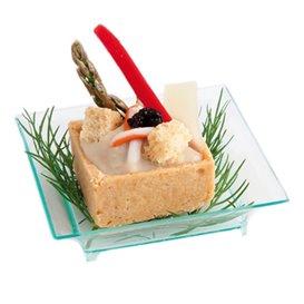 Saucières Dégustation Salsa Vert Transp. 6,5x6,5x1,5cm (720 Utés)
