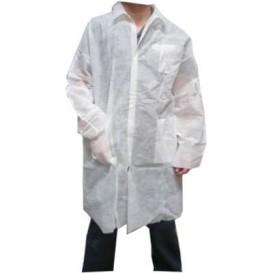 Blouse PP Blanc Velcro et Avec Poches XL (1 Uté)