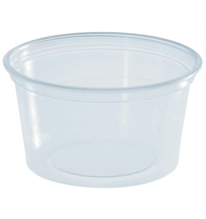 Pot à Sauce Plastique PS Trans. 80ml Ø7cm (100 Utés)
