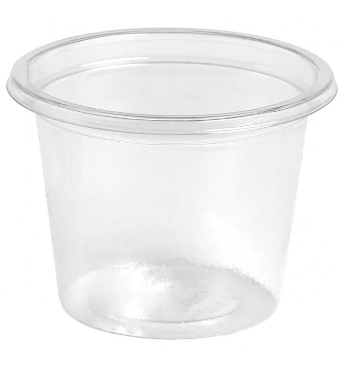 Pot à Sauce Plastique rPET Cristal 30ml Ø4,5cm (250 Utés)