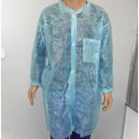 Wegwerp-laboratoriumjas TST PP Velcro Pocket blauw XL (100 stuks)