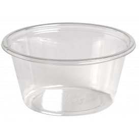 Pot à Sauce Plastique rPET Cristal 60ml Ø6,2cm (250 Utés)