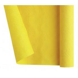 Papieren tafelkleed rol geel 1,2x7m (25 stuks)