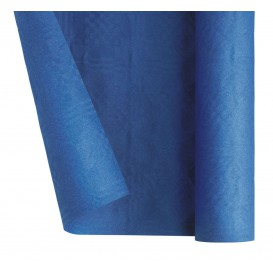 Papieren tafelkleed rol donkerblauw 1,2x7m (1 stuk)