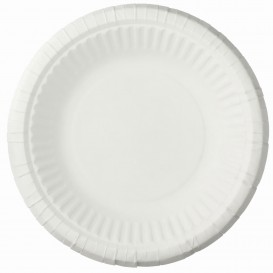 Papieren bord Diep wit 19cm (50 stuks)