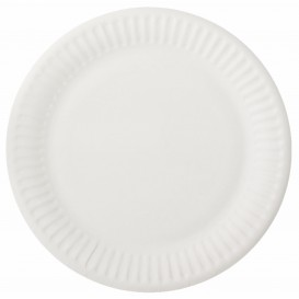 Papieren bord wit 15 cm (100 stuks)