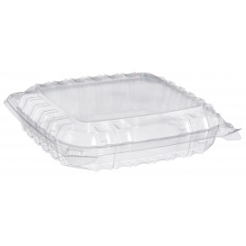 "Plastic scharnierende Deli-Container OPS 3 Compartmenten ""transparant Seal"" 335ml (125 stuks)"