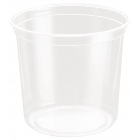 Récipient en Plastique rPET DeliGourmet 24Oz/710ml (50 Utés)