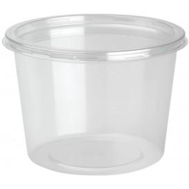 Récipient Plastique rPET DeliLite avec Couvercle 24,6 Oz/700ml (300 Unités)