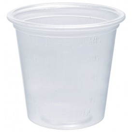 Pot à Sauce PP Trans. Doseur 35ml Ø4,8cm (125 Utés)