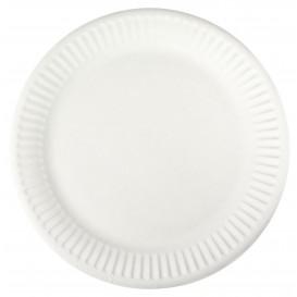 Papieren bord wit 18,5 cm (100 stuks)