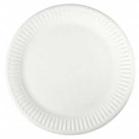 Papieren bord wit 18,5 cm (1000 stuks)