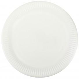 Papieren bord wit 23cm (50 stuks)