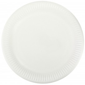 Papieren bord wit 23cm (1000 stuks)