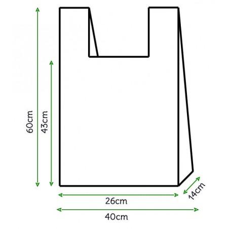Sac à Bretelles 40x60cm Blanc (200 Unités)