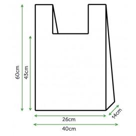 Sac à Bretelles 40x60cm Blanc (3000 Unités)