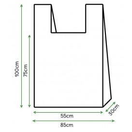 Sac à Bretelles 85x100cm Blanc (500 Unités)