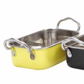 Bediening emmer van staal geel 14,5x9,5cm (1 stuk)