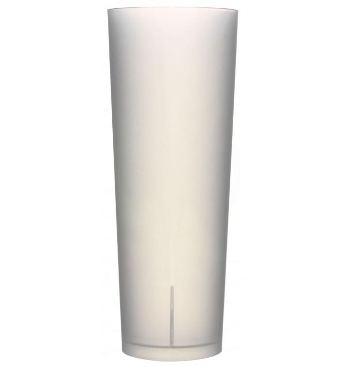 Gobelet Tube Réutilisable PP Translucide 330ml (10 Utés)