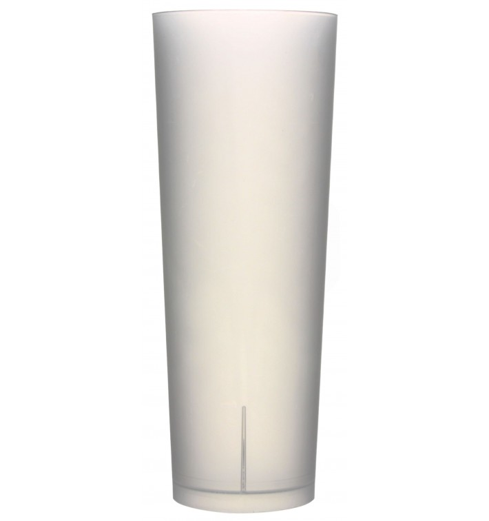 Gobelet Tube Réutilisable PP Translucide 330ml (420 Utés)