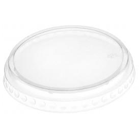 Couvercle Plat Fermé PET Cristal Ø9,5cm (112 Unités)
