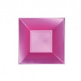 Assiette Plastique Creuse Rose Nice Pearl PP 180mm (25 Utés)