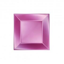 Assiette Plastique Plate Rose Nice Pearl PP 180mm (25 Utés)