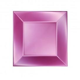 Assiette Plastique Plate Rose Nice Pearl PP 230mm (25 Utés)