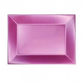 "Plastic dienblad microgolfbaar perzik kleur ""Nice"" 28x19cm (240 stuks)"