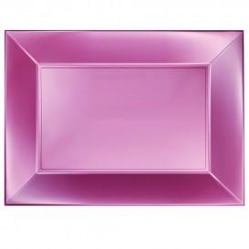 Plateau Plastique Rose Nice Pearl PP 345x230mm (6 Utés)