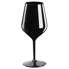Flûte Réutilisable pour Vin Tritan Noir 470ml (6 Unités)