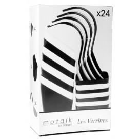 Proeving bestek set PS wit en zwart 24 Pieces (1 stuk)