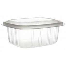 Plastic scharnierende Deli-Container microgolfbaar PP hoog koepel Deksel 370ml (900 stuks)