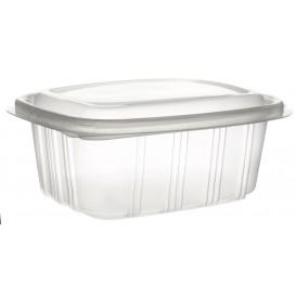 Plastic scharnierende Deli-Container microgolfbaar PP hoog koepel Deksel 500ml (50 stuks)