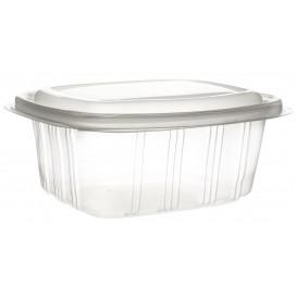 Plastic scharnierende Deli-Container microgolfbaar PP hoog koepel Deksel 750ml (50 stuks)