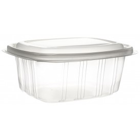 Plastic scharnierende Deli-Container microgolfbaar PP hoog koepel Deksel 750ml (350 stuks)