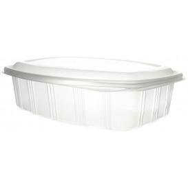 Plastic scharnierende Deli-Container microgolfbaar PP hoog koepel Deksel 1500ml (25 stuks)