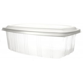 Plastic scharnierende Deli-Container microgolfbaar PP hoog koepel Deksel 2000ml (25 stuks)