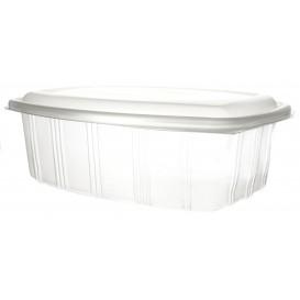 Plastic scharnierende Deli-Container microgolfbaar PP hoog koepel Deksel 2000ml (200 stuks)